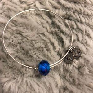 Alex & Ani bracelet with blue stone
